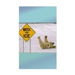 Watch for Ice Sticker (Rectangle 10 pk)