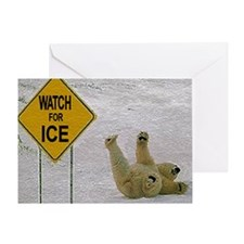Watch for Ice Greeting Card