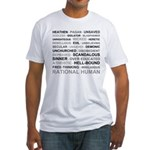 Rational Human Fitted T-Shirt