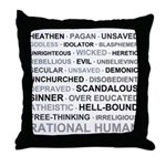 Rational Human Throw Pillow