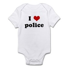 I Love police Infant Bodysuit