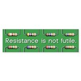 Resistance Bumper Car Sticker