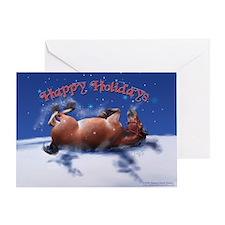 Equine Snow Angel holiday Greeting Card Single