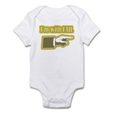 Yellow Fail Infant Bodysuit