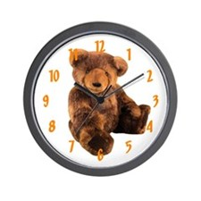 BROWN BEAR Wall Clock / 10 inch
