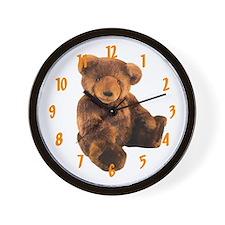 BROWN BEAR Wall Clock / 10 inch