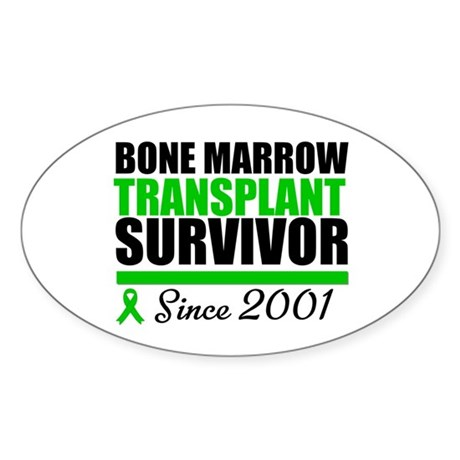 BMT Survivor Since '01 Oval Sticker
