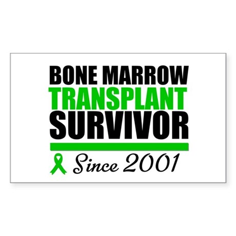 BMT Survivor Since '01 Rectangle Sticker 10 pk)