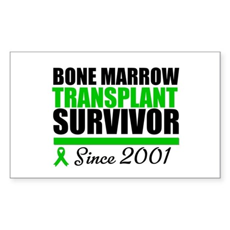BMT Survivor Since '01 Rectangle Sticker 50 pk)