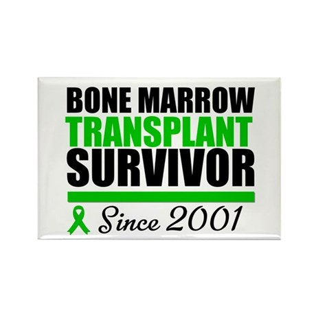 BMT Survivor Since '01 Rectangle Magnet (10 pack)