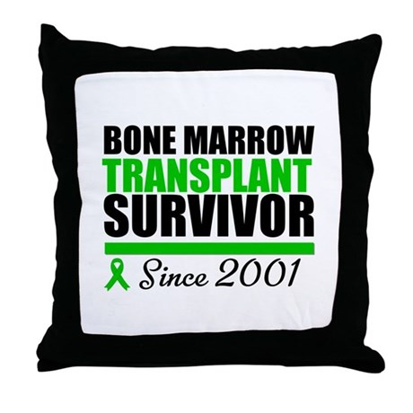 BMT Survivor Since '01 Throw Pillow