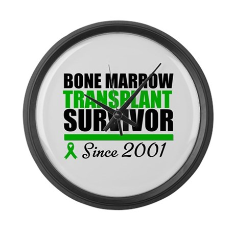 BMT Survivor Since '01 Large Wall Clock