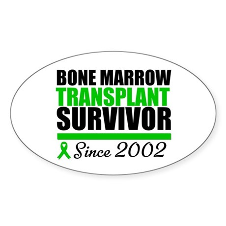 BMT Survivor Since '02 Oval Sticker