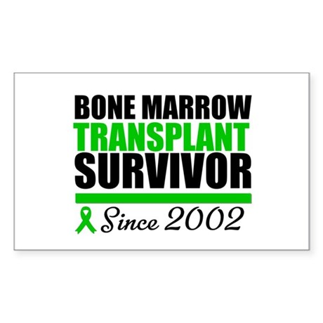 BMT Survivor Since '02 Rectangle Sticker