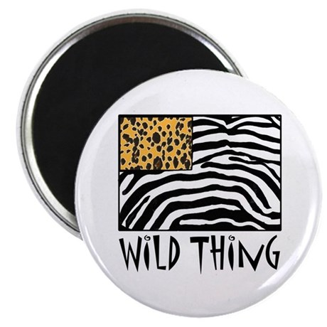 "Cheetah & Zebra Wild Thing 2.25"" Magnet (10 pack)"