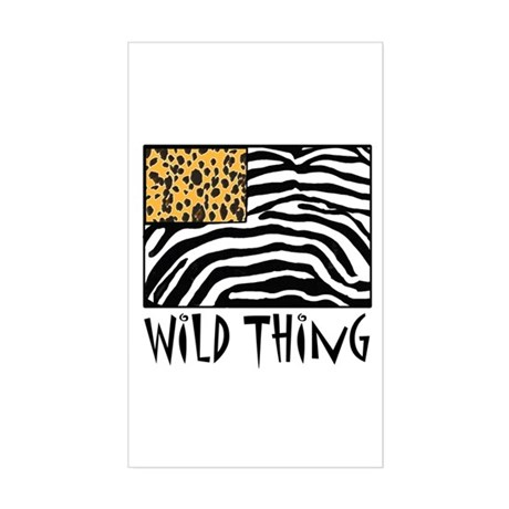 Cheetah & Zebra Wild Thing Sticker (Rectangle)