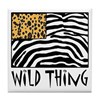 Cheetah & Zebra Wild Thing Tile Coaster
