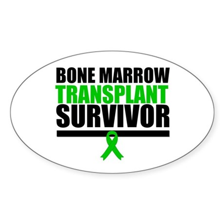 BoneMarrowTransplantSurvivor Oval Sticker (50 pk)