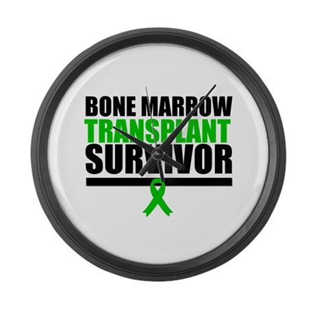 BoneMarrowTransplantSurvivor Large Wall Clock