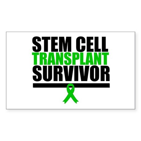 Stem Cell Transplant Sticker (Rectangle 50 pk)