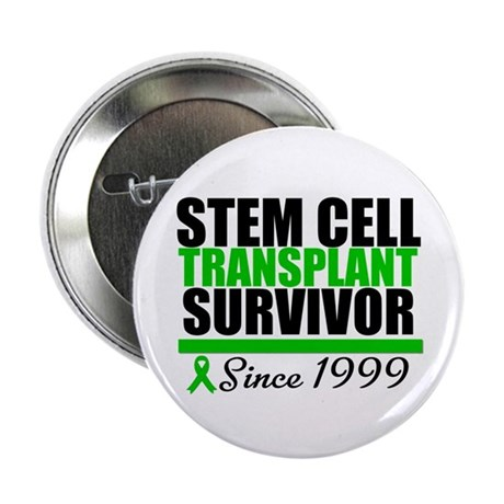 "SCT Survivor Green Ribbon 2.25"" Button"