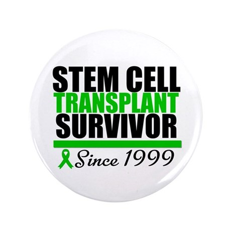 "SCT Survivor Green Ribbon 3.5"" Button"