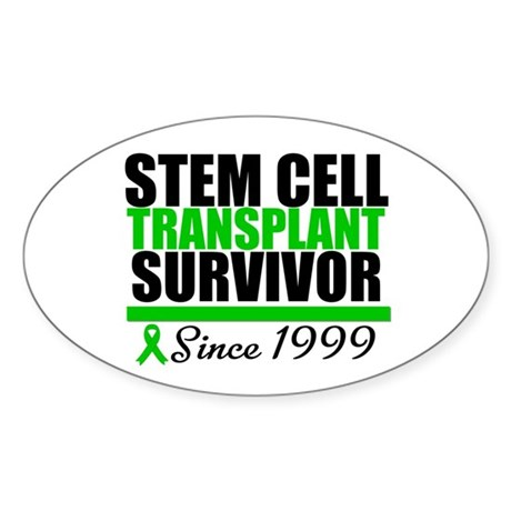 SCT Survivor Green Ribbon Oval Sticker