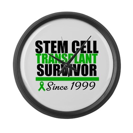 SCT Survivor Green Ribbon Large Wall Clock