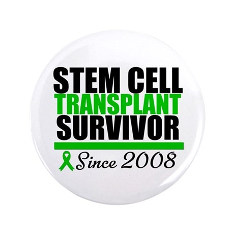 "SCT Survivor Green Ribbon 3.5"" Button (100 pack)"