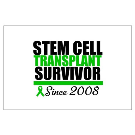 SCT Survivor Green Ribbon Large Poster
