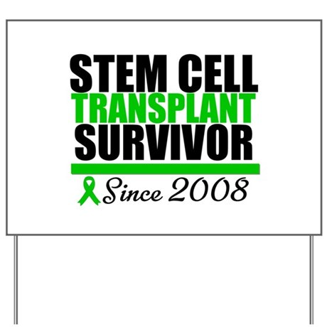 SCT Survivor Green Ribbon Yard Sign
