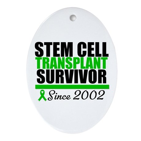 SCT Survivor Green Ribbon Oval Ornament