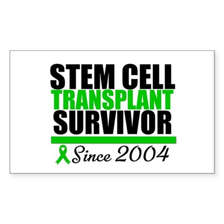 SCT Survivor Green Ribbon Rectangle Sticker