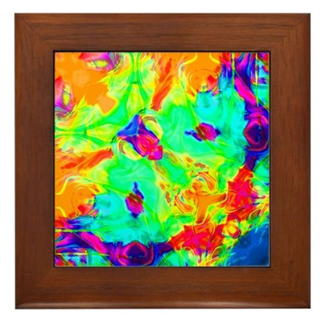 Color Splash Framed Tile