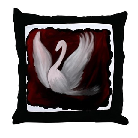 Swan Twilight Throw Pillow