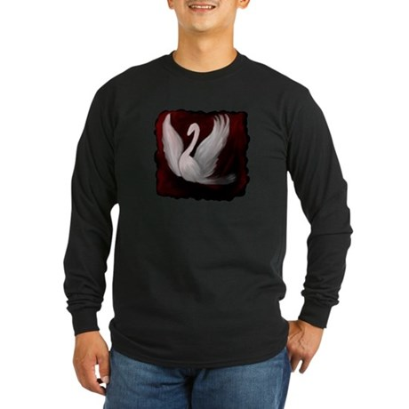 Swan Twilight Long Sleeve Dark T-Shirt