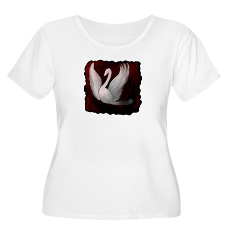 Swan Twilight Women's Plus Size Scoop Neck T-Shirt