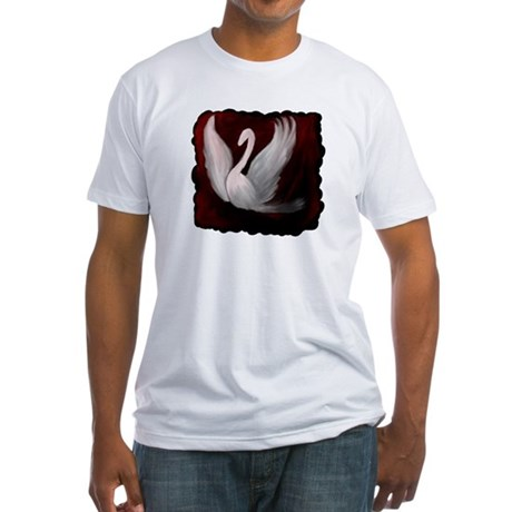 Swan Twilight Fitted T-Shirt