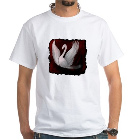 Swan Twilight White T-Shirt