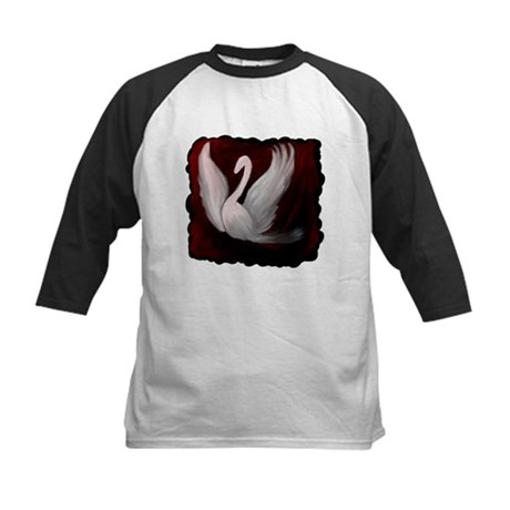 Swan Twilight Kids Baseball Jersey