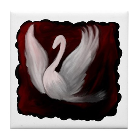 Swan Twilight Tile Coaster