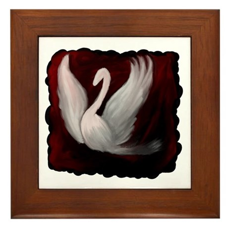 Swan Twilight Framed Tile
