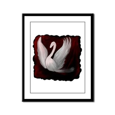 Swan Twilight Framed Panel Print