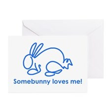 Cute Somebunny loves me Greeting Cards (Pk of 10)