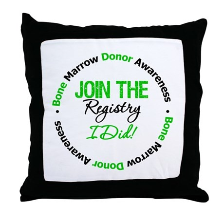 BMT Join The Registry I Did Throw Pillow
