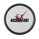Ex Accountant Large Wall Clock