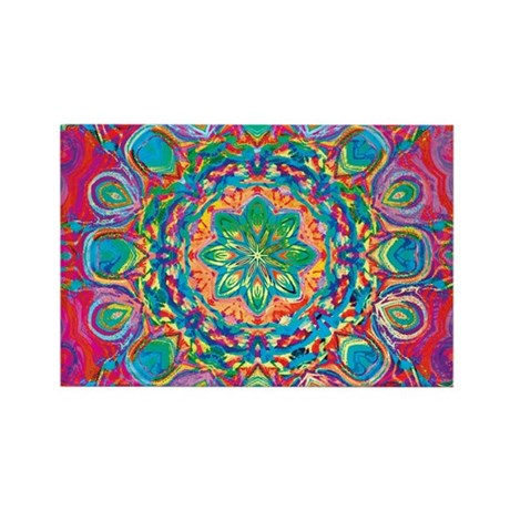 Painted Flower Rectangle Magnet (10 pack)