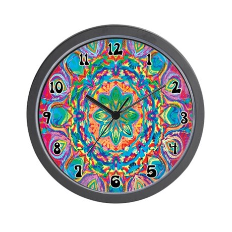 Painted Flower Wall Clock