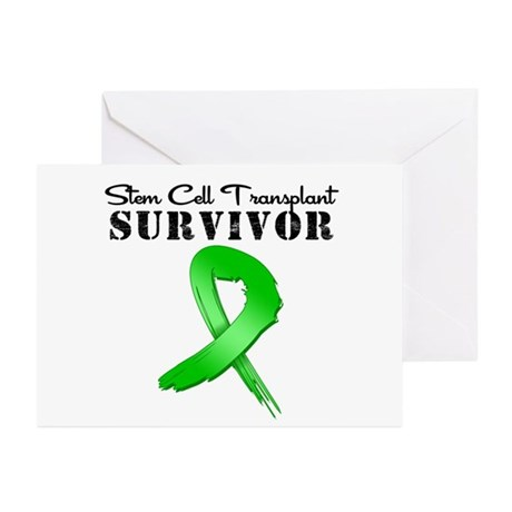 SCT Survivor Grunge Greeting Cards (Pk of 10)