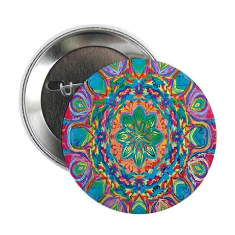 "Painted Flower 2.25"" Button (10 pack)"